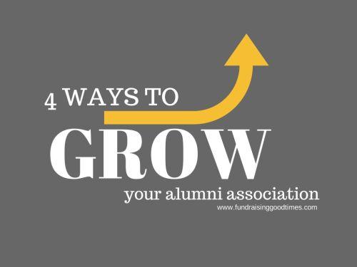 Four ways to grow your alumni association